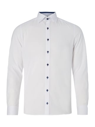 Body Fit Business-Hemd mit Button-Down-Kragen Weiß - 1
