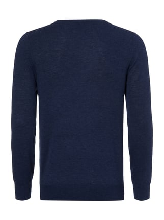 OLYMP Level 5 Body Fit Pullover aus Merinowoll-Seide-Mix Jeans - 1