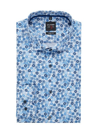 OLYMP Level Five Slim Fit Business-Hemd aus Baumwolle mit extra langem Arm Blau - 1
