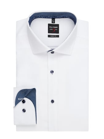 OLYMP Level Five Slim Fit Business-Hemd aus Baumwolle Weiß - 1