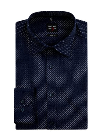 OLYMP Level Five Slim Fit Business-Hemd mit Stretch-Anteil Blau - 1