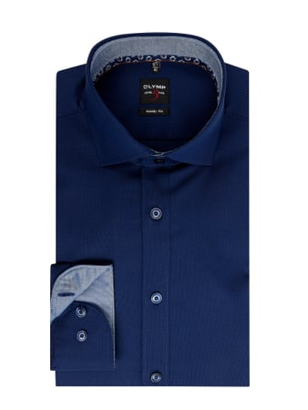 OLYMP Level Five Slim Fit Business-Hemd mit Stretch-Anteil mit extra langem Arm Blau - 1