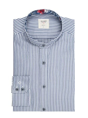 OLYMP Level Five Slim Fit Freizeithemd aus Baumwolle Blau - 1