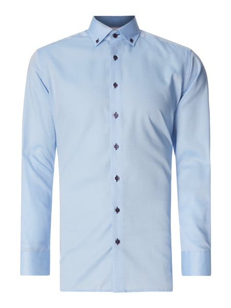 OLYMP Modern Fit Business-Hemd mit Button-Down-Kragen Blau