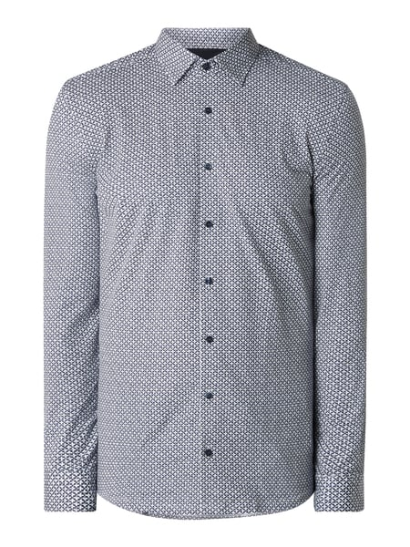 OLYMP No. Six Super Slim Fit Business-Hemd aus Jersey mit hohem Stretch-Anteil Blau - 1