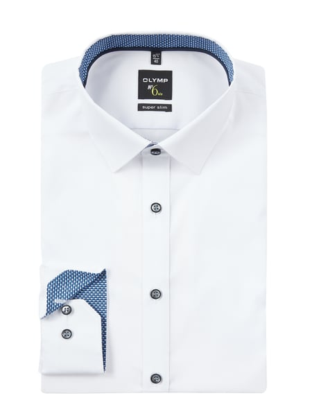 OLYMP No. Six Super Slim Fit Business-Hemd aus Popeline Blau - 1