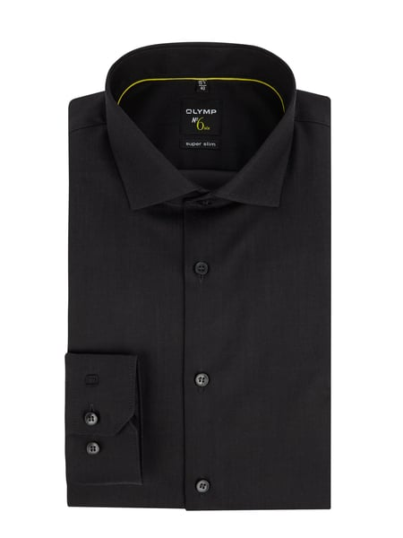 OLYMP No. Six Super Slim Fit Business-Hemd aus Popeline mit extra langem Arm Grau - 1