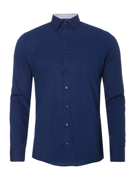 Super Slim Fit Business-Hemd mit Kentkragen Blau / Türkis - 1