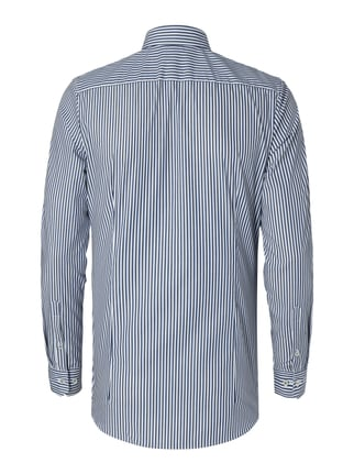 OLYMP No.6 Super Slim Fit Business-Hemd mit Streifen-Dessin Marineblau - 1