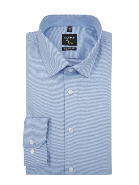 OLYMP No. Six Super Slim Fit Business-Hemd mit Stretch-Anteil Blau - 1