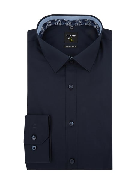 OLYMP No. Six Hemd super slim fit mit Stretch-Anteil Blau / Türkis - 1