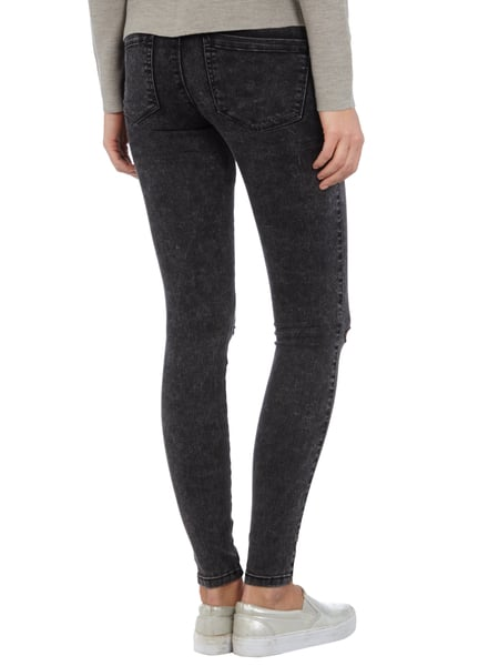 Only acid washed skinny jeans schwarz