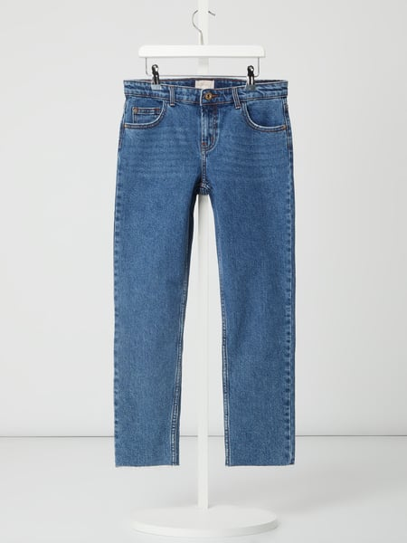 Only Ankle Cut Jeans mit Stretch-Anteil Modell 'Emily' Blau - 1