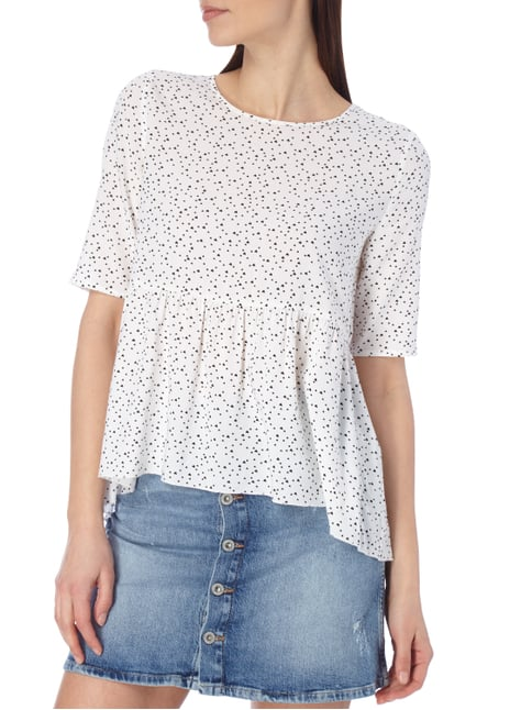 Only Blusenshirt mit Herzmuster Offwhite - 1