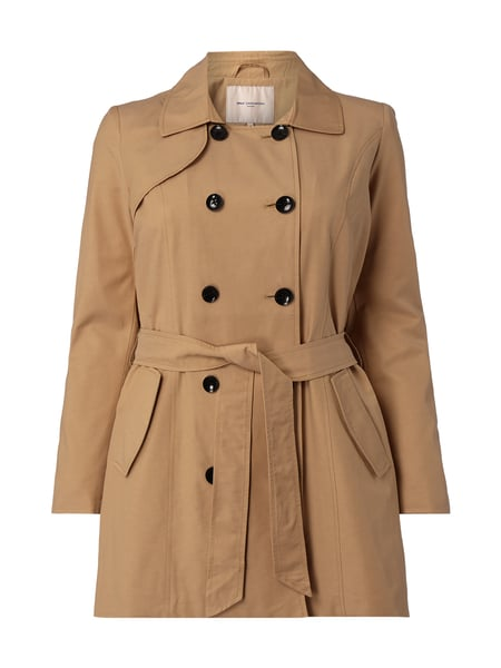 ONLY CARMAKOMA PLUS SIZE - Trenchcoat mit 2-reihiger Knopfleiste Weiß - 1