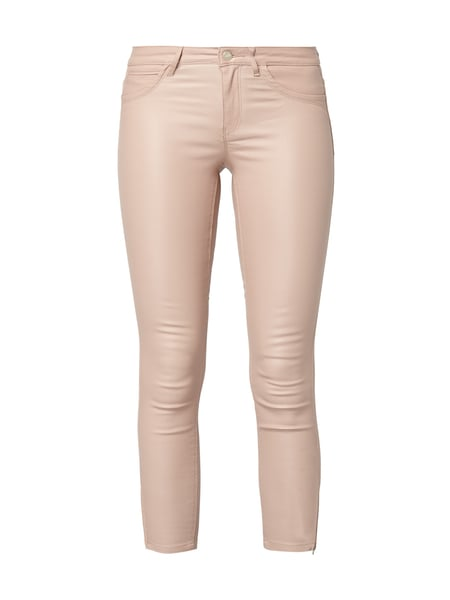 Only Coated Skinny Fit Jeans mit Münztasche Rosa