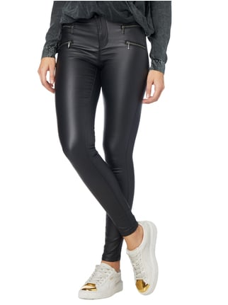 Only Coated Skinny Fit Jeggings mit Stretch-Anteil Schwarz - 1