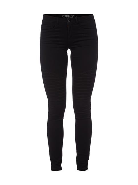Coloured Jeans im Skinny Fit Grau / Schwarz - 1