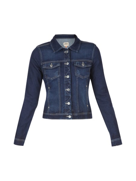 sports shoes 4a642 bcb8a ONLY Jeansjacke aus Baumwoll-Mix in Blau / Türkis online ...
