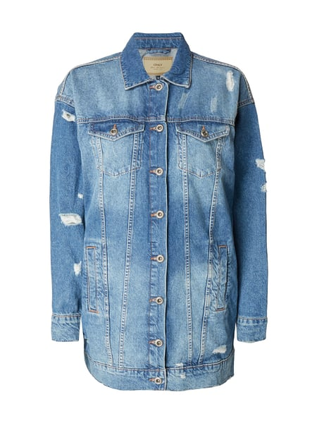 Only Jeansjacke im Destroyed Look Blau - 1