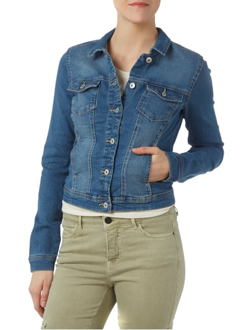Only Jeansjacke im Stone Washed-Look Jeans - 1