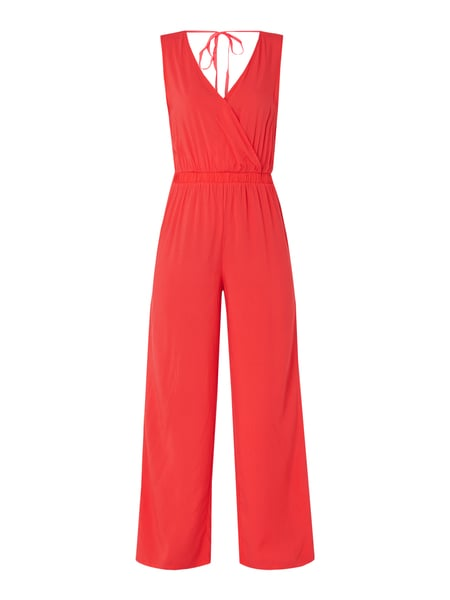 Only Jumpsuit V-hals in wikkellook Rood - 1