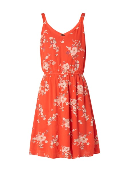 Only Kleid mit floralem Muster Rot