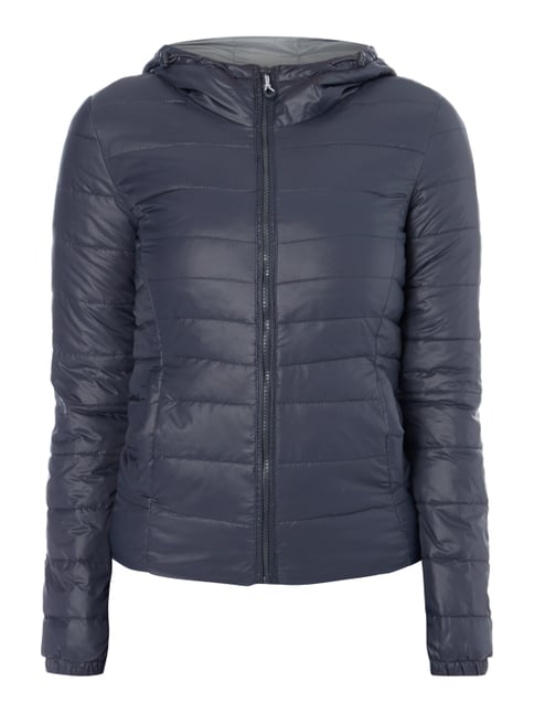 Light-Steppjacke mit Kapuze Blau / Türkis - 1