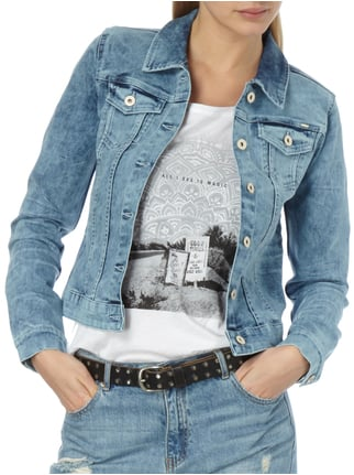 Only Moon Washed Jeansjacke mit Pattentaschen Jeans - 1