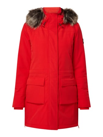 Only Parka mit Fake Fur - wattiert Rot - 1