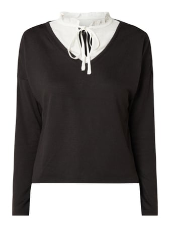 Only Pullover im 2-in-1-Look Modell 'Ashley' Schwarz - 1