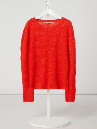 Only Pullover mit Zopfmuster Orange - 1