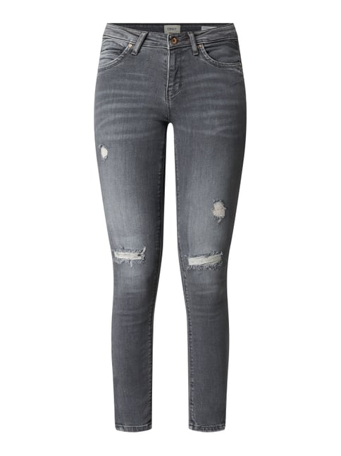 BCI Regular Skinny Fit Jeans im Destroyed Look