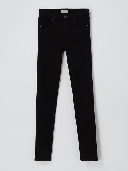 Only Skinny Fit Jeans mit Stretch-Anteil Modell 'Royal' Schwarz - 1