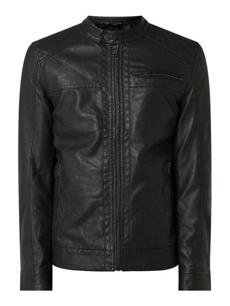 Only & Sons Jacke in Leder-Optik Modell 'Al' Schwarz - 1
