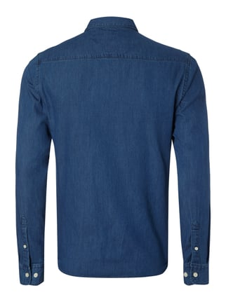 Only & Sons Slim Fit Jeanshemd mit Button-Down-Kragen Blau - 1