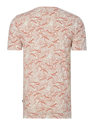Only & Sons T-Shirt mit Allover-Muster Dunkel Orange - 1
