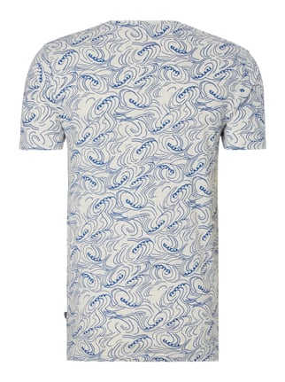 Only & Sons T-Shirt mit Allover-Muster Marineblau - 1