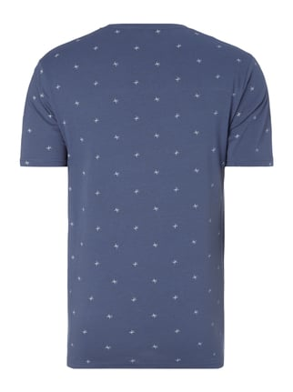 Only & Sons T-Shirt mit Allover-Muster Rauchblau - 1