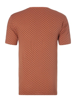 Only & Sons T-Shirt mit Allover-Muster Rostrot - 1