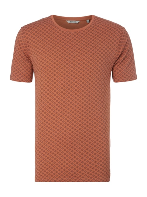 T-Shirt mit Allover-Muster Rot - 1
