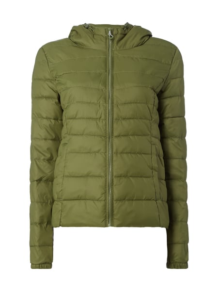 finest selection 86fc5 3b4f4 ONLY Steppjacke mit Kapuze - wattiert in Grün online kaufen ...