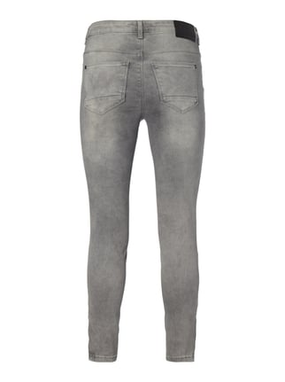 Only Stone Washed Skinny Fit 5-Pocket-Jeans Mittelgrau - 1