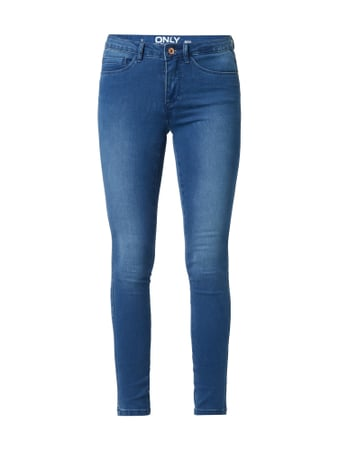Only Stone Washed Skinny Fit Jeans Blau - 1