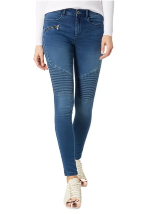Only Stone Washed Skinny Fit Jeans Weiß - 1
