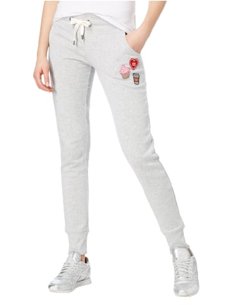 Only Sweatpants mit Patches Hellgrau meliert - 1