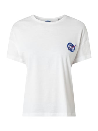 Only T-Shirt Modell 'New NASA' - 'Better Cotton Initiative' Weiß - 1