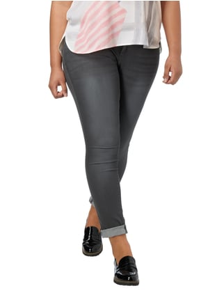 OPEN END PLUS SIZE - Stone Washed Jeans Mittelgrau - 1