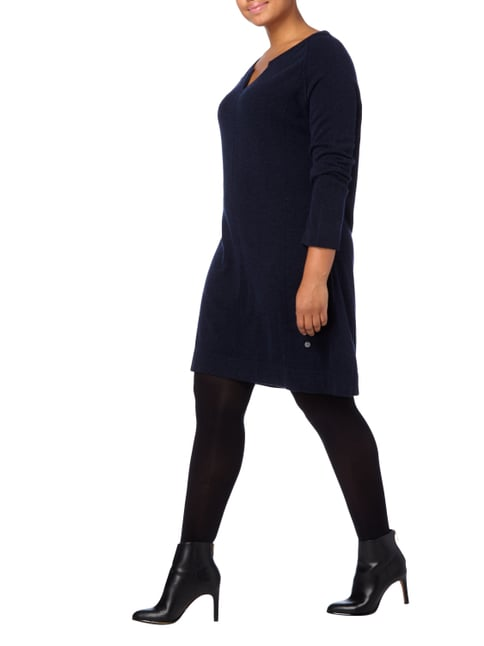 OPEN END PLUS SIZE - Strickkleid mit Kaschmir-Anteil in Blau / Türkis - 1