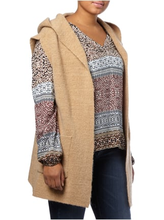 OPEN END PLUS SIZE - Strickweste mit Kapuze Camel - 1